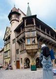Alsaziano pittoresco del villaggio di Colmar, Francia Immagini Stock Libere da Diritti