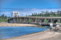 Alsea Bay Bridge Stock Photo