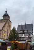 Alsfeld nel christmastime, Germania Fotografia Stock Libera da Diritti