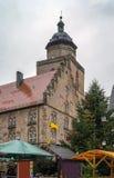 Alsfeld nel christmastime, Germania Fotografie Stock Libere da Diritti