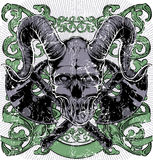 Horned skull Stock Images