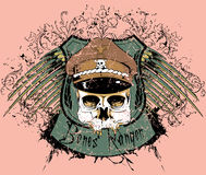 Bones Ranger. Also available in separate layer the original vector without scratch Stock Image