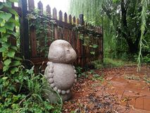 Fat buddha sculpture in Shanghai royalty free stock photos