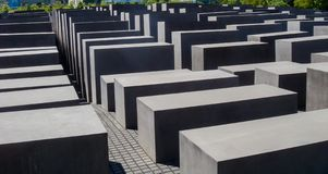 Historic buildings in Berlin: Memorial to the Murdered Jews of Europe stock image