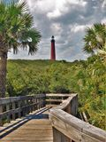 Ponce Inlet Lighthouse at New Smyrna Beach Royalty Free Stock Image