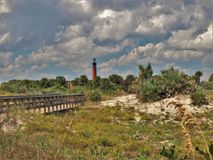 Ponce Inlet Lighthouse at New Smyrna Beach Stock Photography