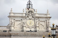 Detail of the Royal Palace of Madrid Royalty Free Stock Images