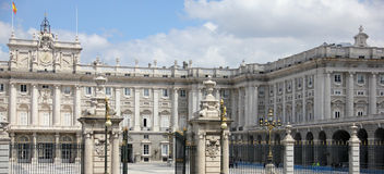 Detail of the Royal Palace of Madrid Stock Photos