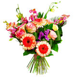 alsrtomerias bukieta gerberas róże Obraz Royalty Free