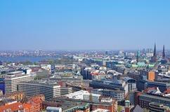Alster dell'orizzonte di Amburgo Fotografia Stock Libera da Diritti