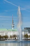 Alster fountain Royalty Free Stock Photography