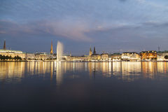 Alster fountain in Hamburg Stock Images