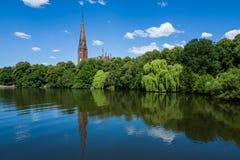 Alster Hamburg teren Zdjęcie Stock