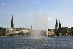 Alster lake in Hamburg Royalty Free Stock Photos