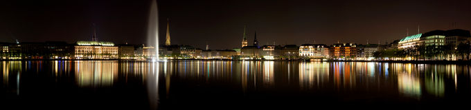 Alster lake in Hamburg Royalty Free Stock Photography