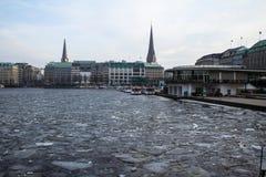 Alster Lake, Hamburg Royalty Free Stock Photography