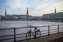 Alster Lake, Hamburg Royalty Free Stock Image