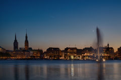 Alster lake in Hamburg Stock Photography