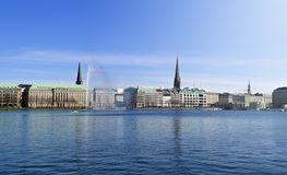 Alster lake in spring Royalty Free Stock Photos