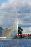Alster Lake. Train Royalty Free Stock Photos