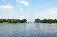 Alster lake Royalty Free Stock Photos