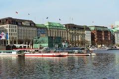 Alster pier, Hamburg, Germany Stock Photos