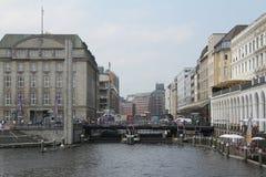 Alsterarkaden Amburgo Fotografia Stock Libera da Diritti