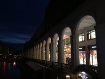 Alsterarkaden a Amburgo, Germania Immagine Stock Libera da Diritti