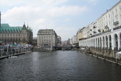 Alsterarkaden Hamburg Royalty Free Stock Images