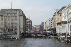 Alsterarkaden Hamburg Royalty Free Stock Photo