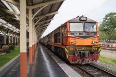 Alsthom Diesel locomotive no 4130. CHIANG MAI, THAILAND -MAY 2 2017: Alsthom Diesel locomotive no 4130. For train no52 from chiangmai to bangkok. Photo at Stock Photo