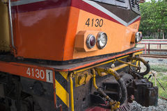 Alsthom Diesel locomotive no 4130. CHIANG MAI, THAILAND -MAY 2 2017: Alsthom Diesel locomotive no 4130. For train no52 from chiangmai to bangkok. Photo at Royalty Free Stock Photo