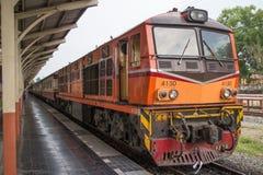 Alsthom Diesel locomotive no 4130. CHIANG MAI, THAILAND -MAY 2 2017: Alsthom Diesel locomotive no 4130. For train no52 from chiangmai to bangkok. Photo at Stock Images