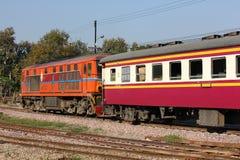Alsthom Diesel locomotive no.4102. CHIANGMAI, THAILAND- FEBRUARY 5 2014: Alsthom Diesel locomotive no.4102 and train no.52 from chiangmai to bangkok. Photo at Stock Images