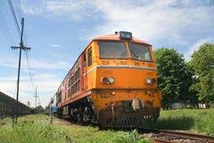 Alsthom Diesel locomotive no.4150. CHIANGMAI, THAILAND - JULY 21 2010: Alsthom Diesel locomotive no.4150 For train no.2 from chiangmai to bangkok. Photo at Royalty Free Stock Photography