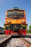 Alsthom locomotive at Chiangmai Train Station Royalty Free Stock Image