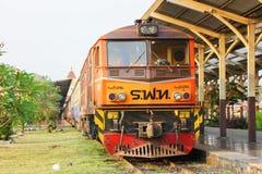 Alsthom locomotive no.4226. CHIANGMAI, THAILAND-  FEBRUARY 27 2013: Alsthom locomotive no.4226 at chiangmai railway station, thailand Stock Image