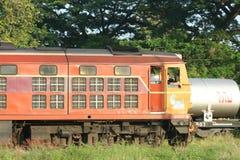 Alsthom Locomotive No4407 For Train No14. CHIANG MAI , THAILAND - OCTOBER 19 2007:  Alsthom Locomotive No4407 For Train No14. Train to Bangkok From Chiangmai Royalty Free Stock Photos