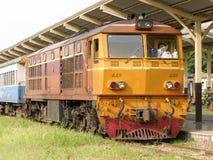 Alsthom Locomotive No4411 For Train No14. CHIANG MAI , THAILAND - OCTOBER  20  2006: Alsthom Locomotive No4411 For Train No14. Train to Bangkok From Chiangmai Royalty Free Stock Photography