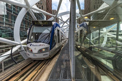 Alstom Blue And White Tram Stock Photography
