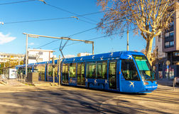 Alstom Citadis 401 tram in Montpellier Royalty Free Stock Photo
