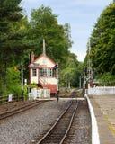 Alston Signal Box en Spoorwegovergang Royalty-vrije Stock Afbeeldingen