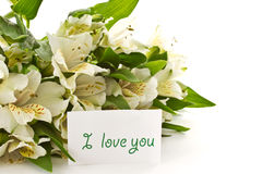 Alstroemeria bianco Fotografia Stock Libera da Diritti