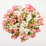 Alstroemeria bouquet. Fresh round bouquet of pink flowers Alstroemeria stock photo