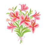 Alstroemeria de bouquet illustration stock