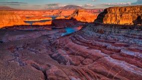 Alstrom punkt, Jeziorny Powell, strona, Arizona, zlani stany Obrazy Stock