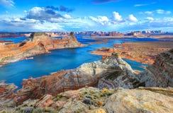 Alstrom punkt, sjö Powell, sida, Arizona, Förenta staterna Arkivbild
