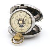 Altímetro viejo del barómetro del bolsillo Imágenes de archivo libres de regalías