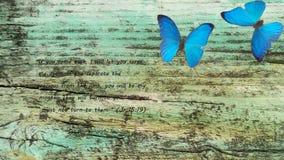 Alt, Brett mit dem Psalm des Prophets, der biblische Jeremias Stockfotos