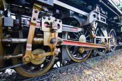Alt das Zugrad, der Weinlese Dampflokomotive Stockfotos